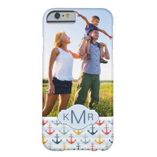 Coque iPhone 6 Barely There Motif nautique fait sur commande de photo et