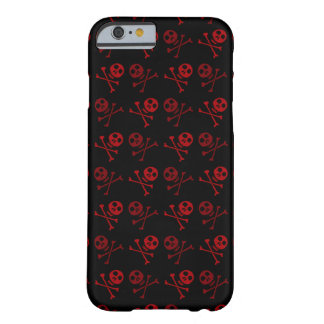 Coque iPhone 6 Barely There Motif rouge de crâne de bande dessinée