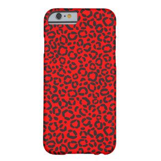 Coque iPhone 6 Barely There Motif rouge et noir d'empreinte de léopard