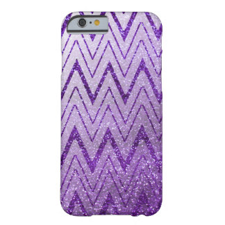 Coque iPhone 6 Barely There Motif scintillé violet de Chevron