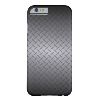 Coque iPhone 6 Barely There Noir à l'art en acier gris d'arrière - plan de