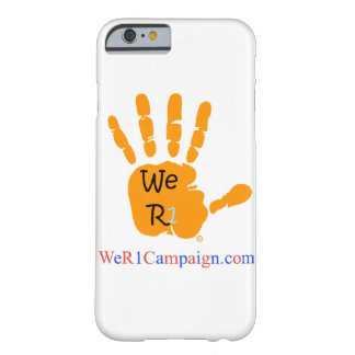 Coque iPhone 6 Barely There Nous caisse orange de téléphone de la main R1