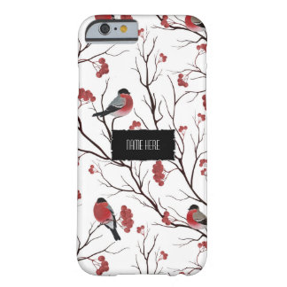 Coque iPhone 6 Barely There Oiseaux et baies d'hiver