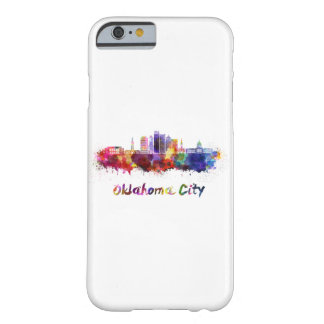 Coque iPhone 6 Barely There Oklahoma Ville V2 skyline in watercolor