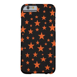 Coque iPhone 6 Barely There Orange étoilée de nuit étoilée