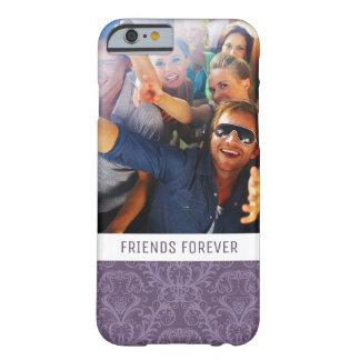 Coque iPhone 6 Barely There Papier peint floral pourpre fait sur commande 2 de