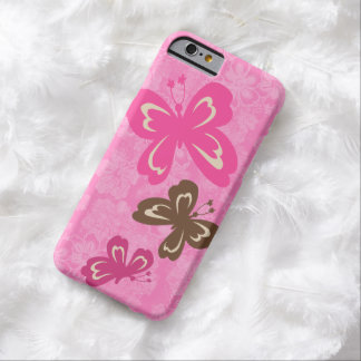 Coque iPhone 6 Barely There Papillon et ketmie hawaïenne Pareau de Honolua