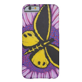 Coque iPhone 6 Barely There Papillon jaune et noir