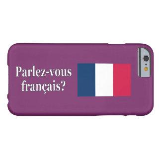 Coque iPhone 6 Barely There Parlez-vous français ? en français. Wf de drapeau