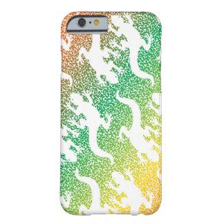 Coque iPhone 6 Barely There Partie de Gecko d'arrière - plan d'arc-en-ciel