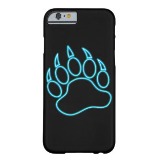 Coque iPhone 6 Barely There Patte d'ours bleue au néon