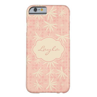 Coque iPhone 6 Barely There Paumes roses