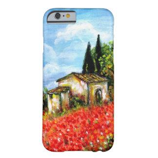 Coque iPhone 6 Barely There PAVOTS EN TOSCANE/paysage avec des gisements de