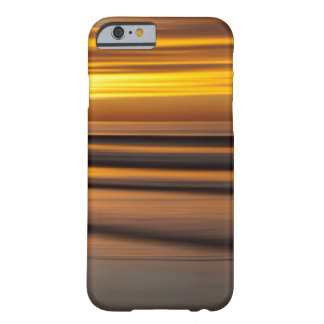 Coque iPhone 6 Barely There Paysage marin abstrait au coucher du soleil, CA