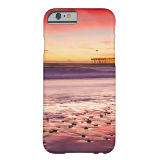 Coque iPhone 6 Barely There Paysage marin et pilier au coucher du soleil, CA