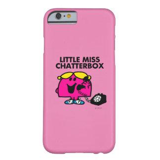 Coque iPhone 6 Barely There Petite Mlle Chatterbox et téléphone noir