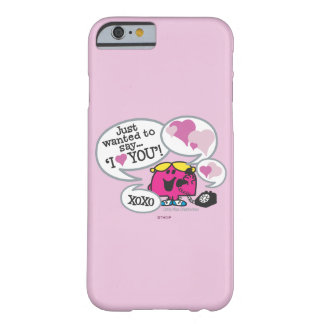 Coque iPhone 6 Barely There Petite Mlle Chatterbox Says je t'aime