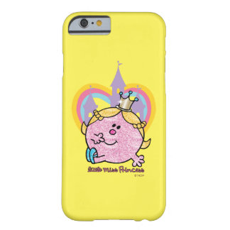 Coque iPhone 6 Barely There Petite Mlle princesse Posing With Castle et coeur