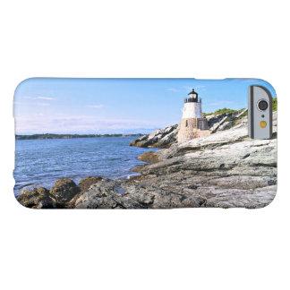 Coque iPhone 6 Barely There Phare de colline de château, Île de Rhode