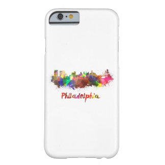 Coque iPhone 6 Barely There Philadelphie skyline in watercolor