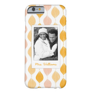 Coque iPhone 6 Barely There Photo faite sur commande et motif d'or nommé