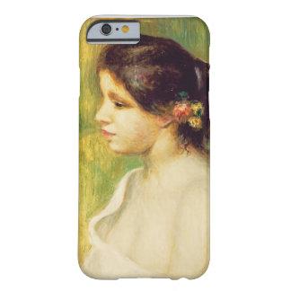 Coque iPhone 6 Barely There Pierre une jeune femme de Renoir | avec des fleurs