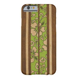 Coque iPhone 6 Barely There Planche de surf hawaïenne vintage en bois de Faux