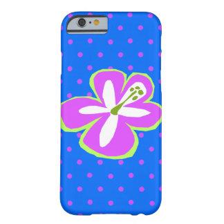 Coque iPhone 6 Barely There Point de polka coupé par Hawaïen de ketmie de
