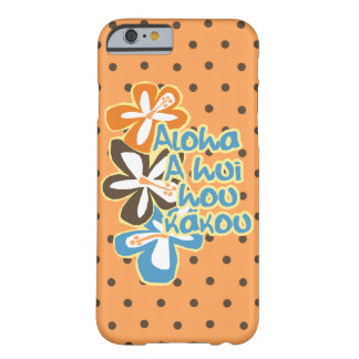 Coque iPhone 6 Barely There Point de polka de ketmie de Hawaïen de Pokii Aloha