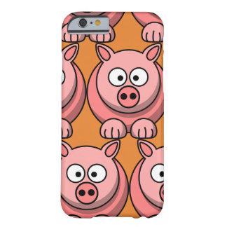 Coque iPhone 6 Barely There Porc mignon de personnaliser pour des enfants