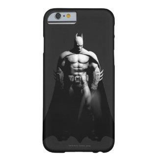 Coque iPhone 6 Barely There Pose large noire et blanche de la ville | Batman