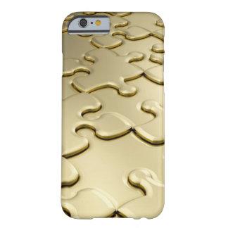Coque iPhone 6 Barely There Puzzle d'or unique royal je téléphone le cas 6s