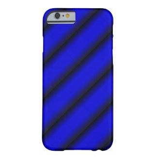 Coque iPhone 6 Barely There Rayure bleue et noire électrique