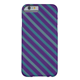 Coque iPhone 6 Barely There Rayure bleue pourpre simple à peine
