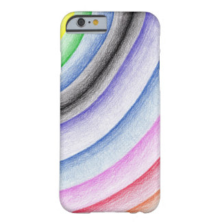 Coque iPhone 6 Barely There Rayure d'arc-en-ciel