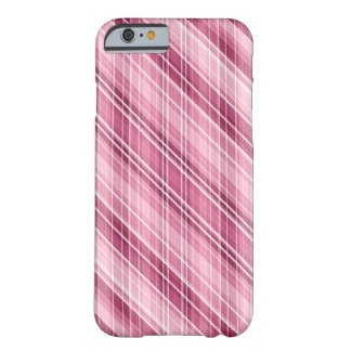 Coque iPhone 6 Barely There Rayure-Plaid-Contre-taille rose mate