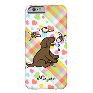 Coque iPhone 6 Barely There Rêve personnalisé de crème glacée de Labrador de