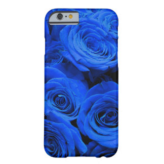 Coque iPhone 6 Barely There Roses bleus