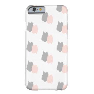 Coque iPhone 6 Barely There Rougissent des courses de brosse d'abrégé sur rose