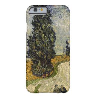 Coque iPhone 6 Barely There Route de Vincent van Gogh | avec des cyprès, 1890