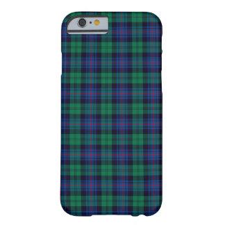 Coque iPhone 6 Barely There Tartan de bleu royal et de vert de clan