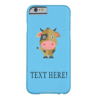 Coque iPhone 6 Barely There Vache mignonne à bande dessinée