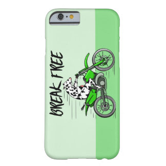 Coque iPhone 6 Barely There Vache montant un Motorcyle