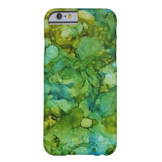 Coque iPhone 6 Barely There Vert bleu de beau d'alcool d'encre motif de