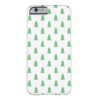 Coque iPhone 6 Barely There Vert en pastel de Noël de motif simple élégant