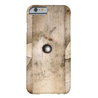 Coque iPhone 6 Barely There Vieilles planches en bois boulonnées ensemble