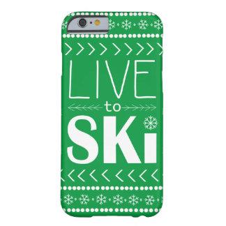 Coque iPhone 6 Barely There Vivez pour skier cas de téléphone - vert
