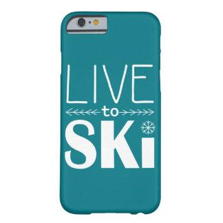 Coque iPhone 6 Barely There Vivez pour skier sarcelle d'hiver de cas de
