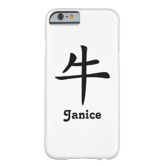 Coque iPhone 6 Barely There Zodiaque chinois - boeuf - noir