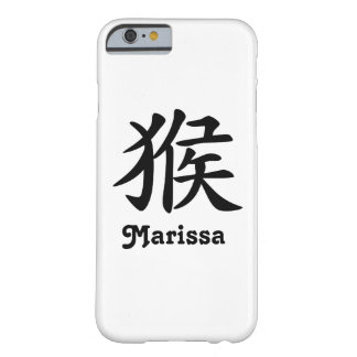 Coque iPhone 6 Barely There Zodiaque chinois - singe - noir